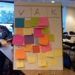 """tabletop chart in a training session for educators  """"VAK"""""""