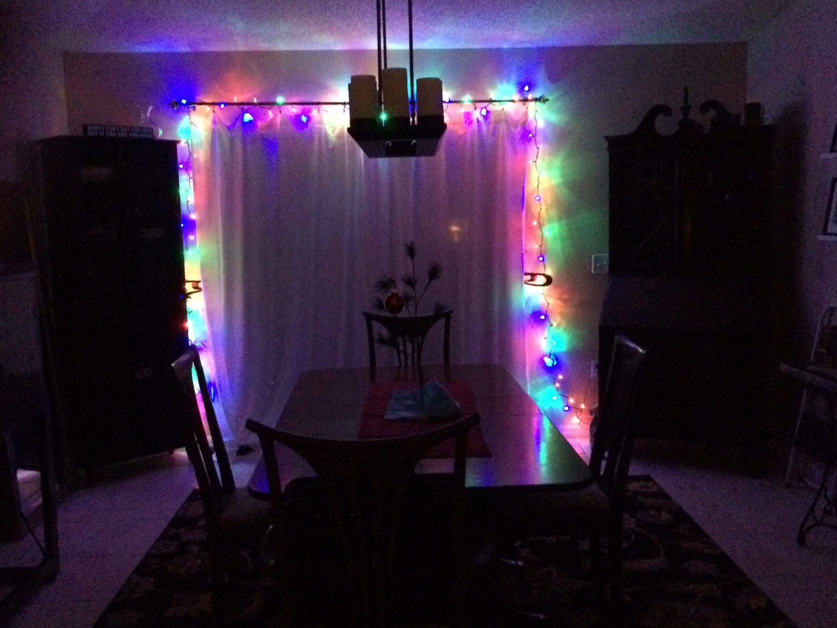Christmas Lights in Home