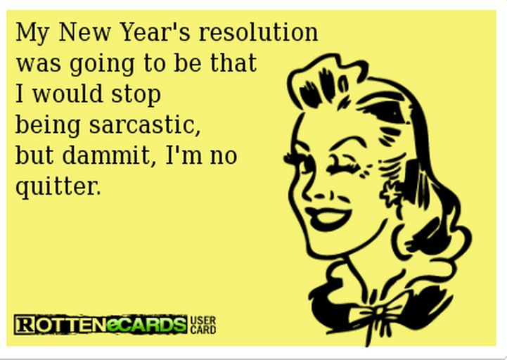 Funny Cartoon_New Year's Resolutions