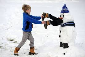 Snowman eating a child-humor