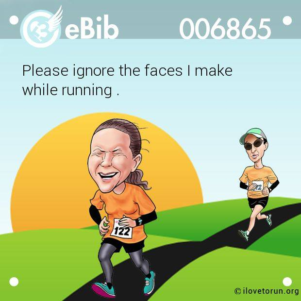 Running Cartoon about faces