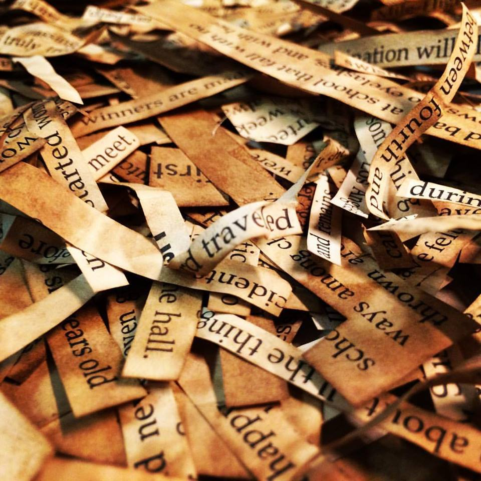 found words stained and ready for use