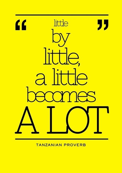 Little by Little.... quote