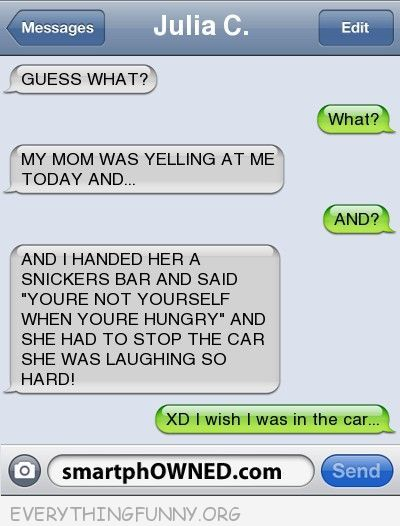 iphone text message about mom