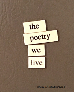 magnetic words on a fridge - the poetry we live