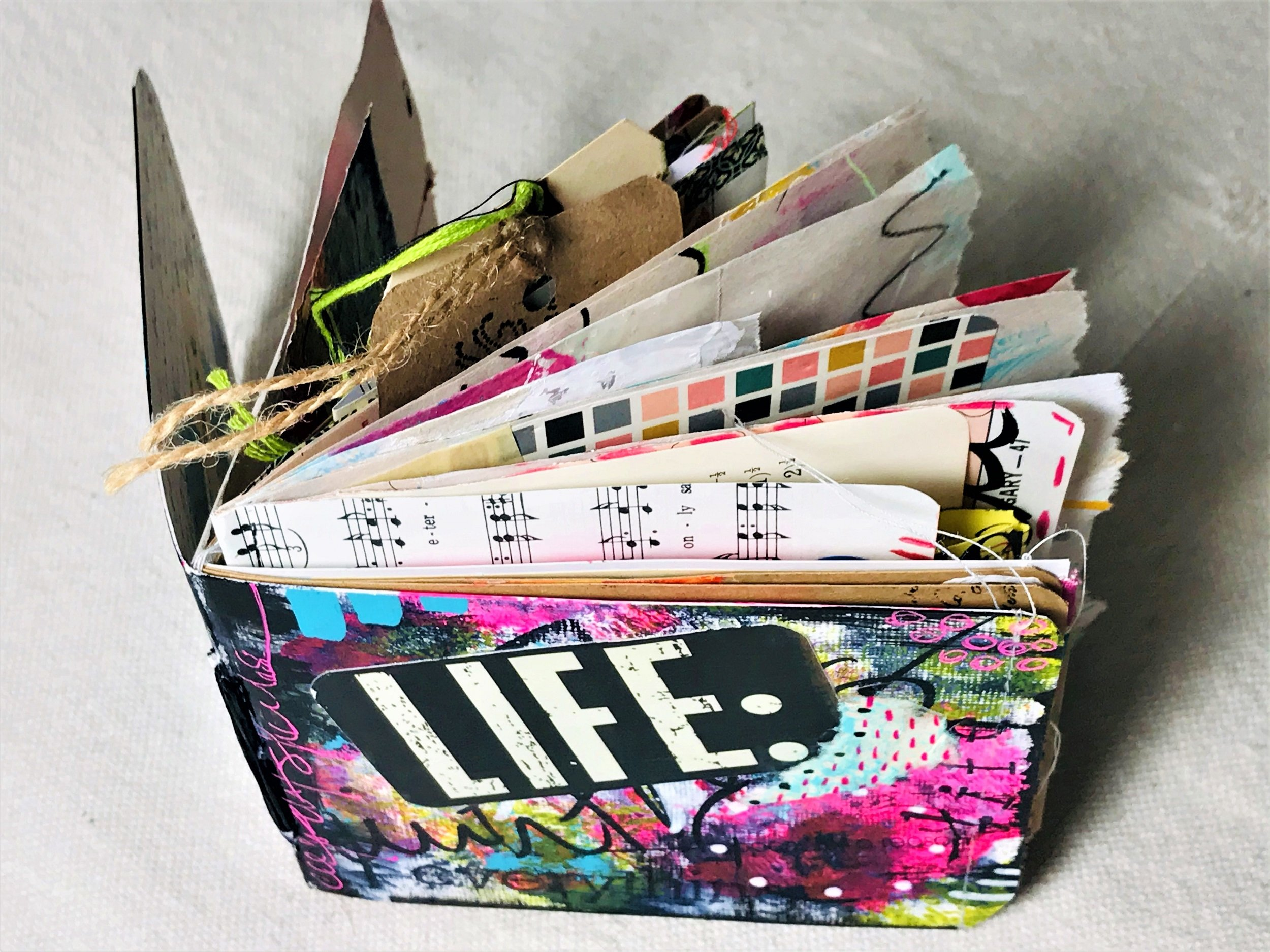"""a handcrafted """"life"""" journal"""