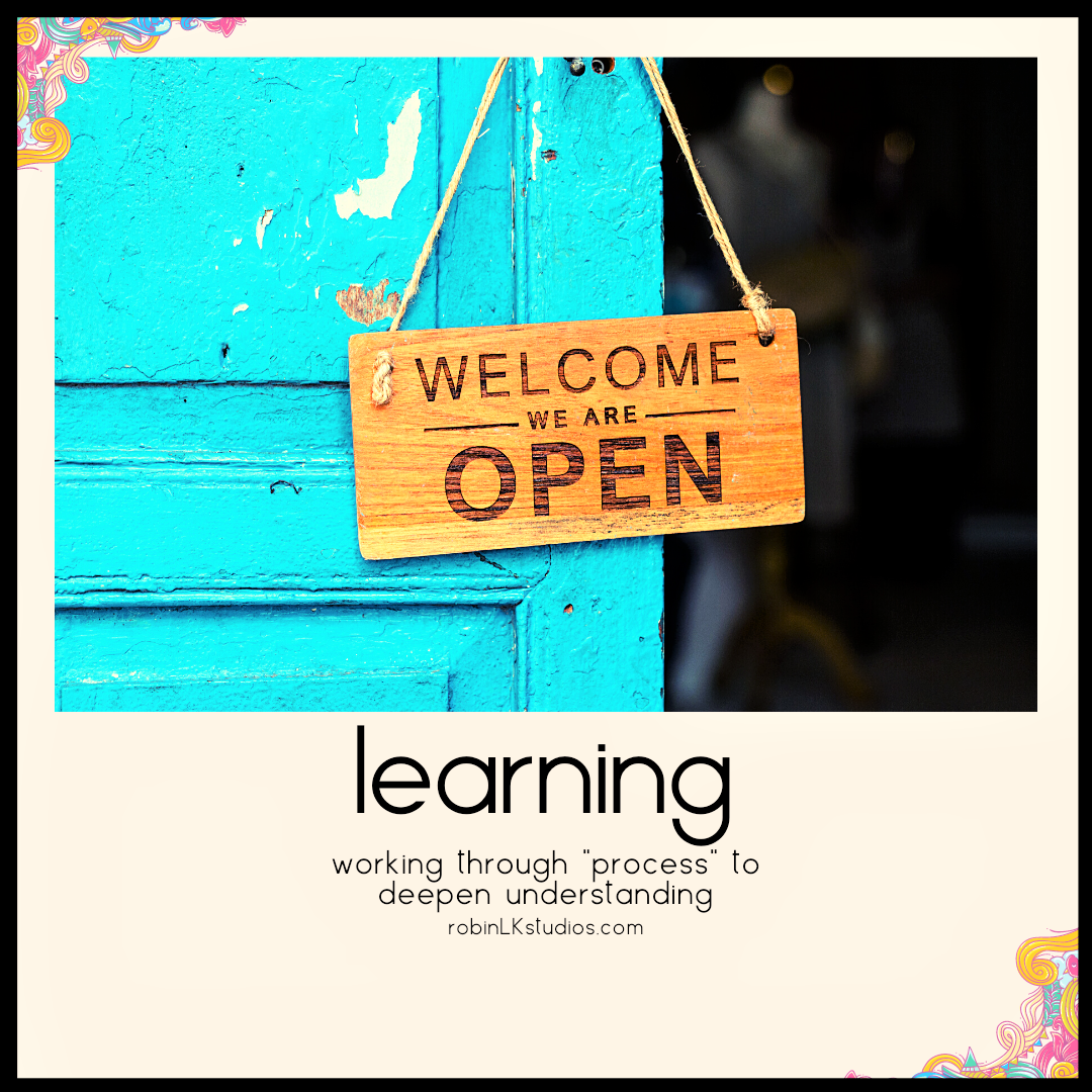 a sign on a door that says LEARNING