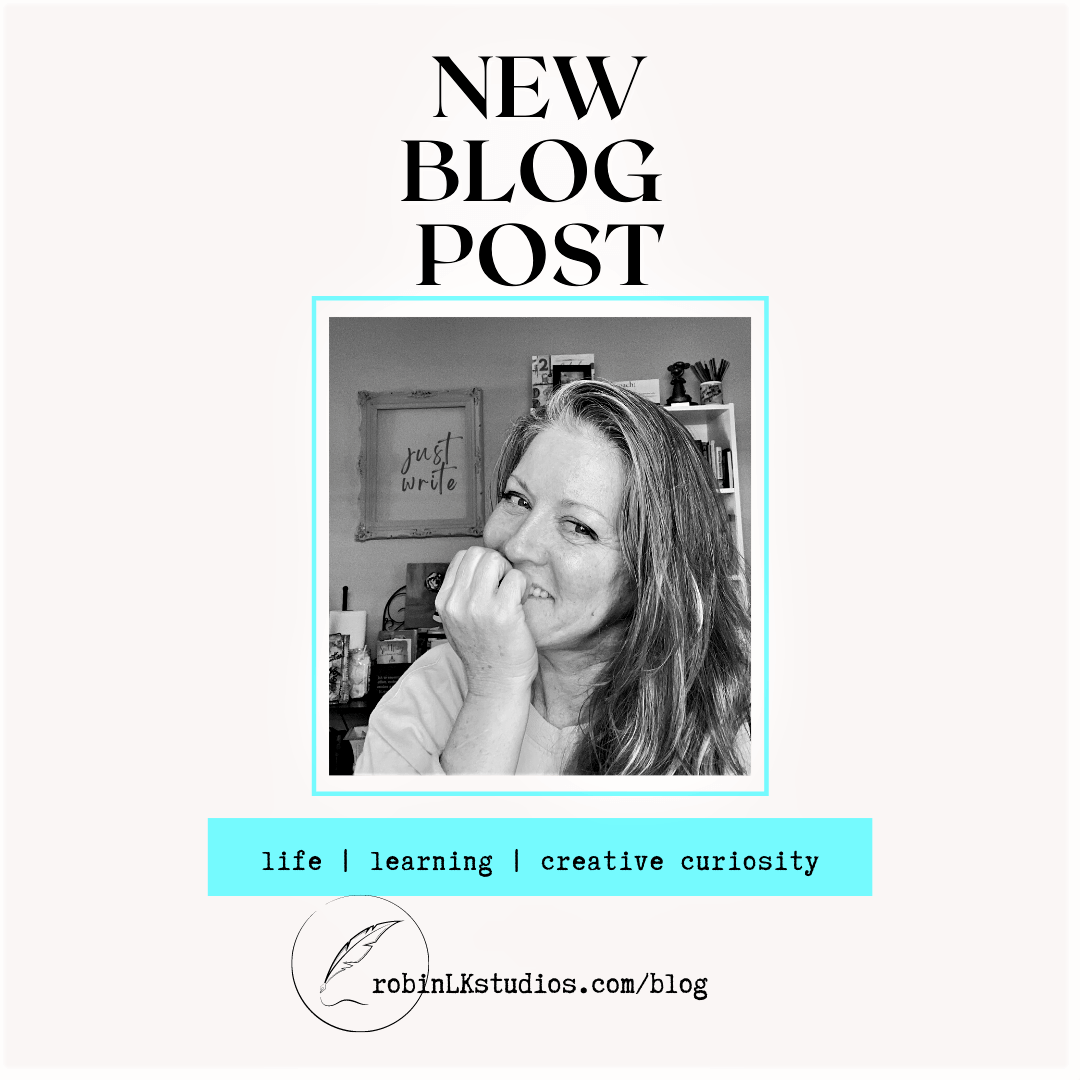 woman smiling at camera and New Blog Post announcement at top