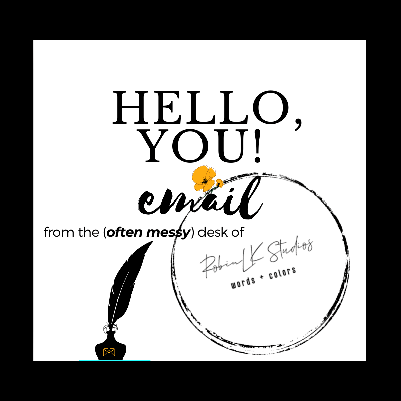 hello, you email subscribe logo with inkwell added  from RobinLK Studios